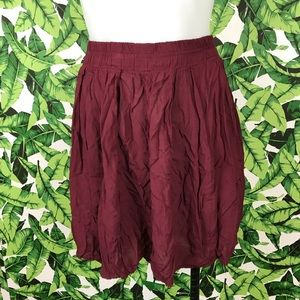 5 for $25 Brandy Melville Maroon Circle Skirt
